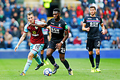 10th September 2017, Turf Moor, Burnley, England; EPL Premier League football, Burnley versus Crystal Palace; Timothy Fosu-Mensah of Crystal Palace challenged by Chris Wood of Burnley