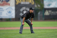 Field umpire Rene Gallegos during a Pioneer League game between the Billings Mustangs and Ogden Raptors at Lindquist Field on August 17, 2018 in Ogden, Utah. The Billings Mustangs defeated the Ogden Raptors by a score of 6-3. (Zachary Lucy/Four Seam Images)