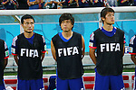 (L to R) <br /> Yasuyuki Konno, <br /> Yasuhito Endo, <br /> Hiroki Sakai (JPN), <br /> JUNE 14, 2014 - Football /Soccer : <br /> 2014 FIFA World Cup Brazil <br /> Group Match -Group C- <br /> between Cote d'Ivoire 2-1 Japan <br /> at Arena Pernambuco, Recife, Brazil. <br /> (Photo by YUTAKA/AFLO SPORT) [1040]