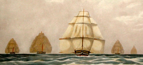 On every point of sailing, brig Wayerwotch out-peformed the crack vessels of the Royal Navy's Channel Squadron