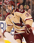 Colin White (BC - 18) - The Boston University Terriers defeated the Boston College Eagles 3-1 in their opening Beanpot game on Monday, February 6, 2017, at TD Garden in Boston, Massachusetts.