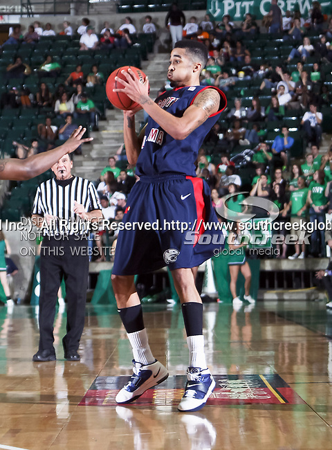 South Alabama Jaguars guard/forward Gary Redus (2) in action during the NCAA  basketball game between the South Alabama Jaguars and the University of North Texas Mean Green at the North Texas Coliseum,the Super Pit, in Denton, Texas. UNT defeated South Alabama 82 to 79...