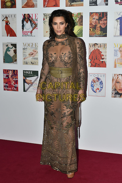 Kim Kardashian West at the Vogue100 anniversary gala dinner, British Vogue's centenary anniversary party, The East Albert Lawn in Kensington Gardens, Hyde Park, London, England, UK, on Monday 23 May 2016.<br /> CAP/PL<br /> &copy;PL/Capital Pictures