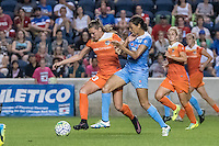 Bridgeview, IL - Saturday July 23, 2016:  Chicago Red Stars forward Cara Walls (12) and Houston Dash midfielder Cami Privett (23) during a regular season National Women's Soccer League (NWSL) match between the Chicago Red Stars and the Houston Dash at Toyota Park.