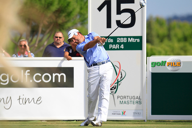 Richard Bland (ENG) tees off the 15th tee during Sunday's Final Round of the 2013 Portugal Masters held at the Oceanico Victoria Golf Club. 13th October 2013.<br /> Picture: Eoin Clarke/www.golffile.ie
