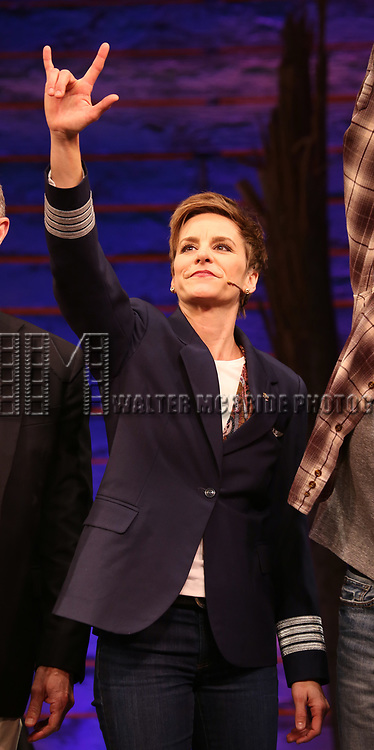 """Jenn Colella during the """"Come From Away"""" Broadway Opening Night Curtain Call at the Gerald Schoenfeld Theatre on March 12, 2017 in New York City."""