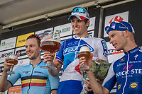 Bottoms up!<br /> Arnaud D&eacute;mare (FRA/FDJ) wins the 70th Halle Ingooigem 2017 (1.1) <br /> Edward Theuns (BEL/Trek-Segafredo) is 2nd &amp; Iljo Keisse (BEL/QuickStep Floors) 3rd<br /> <br /> <br /> 1 Day Race: Halle &gt; Ingooigem (201km)