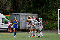 Seattle, WA - Sunday August 13, 2017: Samantha Mewis during a regular season National Women's Soccer League (NWSL) match between the Seattle Reign FC and the North Carolina Courage at Memorial Stadium.