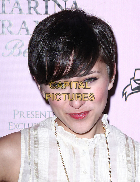 """ZELDA WILLIAMS.Attending the Launch of The """"Tarina Tarantino Beauty"""" Cosmetic Collection presented Exclusively at Sephora,.Hollywood, California, USA,.24th February 2010..portrait headshot white .CAP/ADM/KB.©Kevan Brooks/AdMedia/Capital Pictures."""