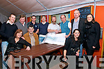 Nano Nagle Presentation: Presenting the proceeds of the Kerry Crusaders fund raising day in Listowel at Christy's Well Bar on Saturday night are in front : Siobhan Curtin, Jim White and Lorraine Horgan. Back: Kevin Hennessy, Dominick Moloney, Vincent O'Leary, Tom Carey, Dominick O'Halloran, who earlier in the yaer had his hair and beard shaved off for the same cause, Gordon Flannery, William O'Sullivan and Eimear McElligott.