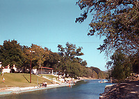 Vintage photo of Austin's Barton Springs Pool in November 1955