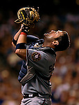 25 August 2007:  Washington Nationals catcher Brian Schneider in action against the Colorado Rockies at Coors Field in Denver, Colorado. The Rockies defeated the Nationals 5-1 in the second game of their 3-game series...Mandatory Photo Credit: Ed Wolfstein Photo