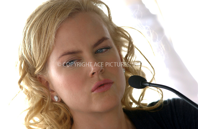 WWW.ACEPIXS.COM . . . . . ....WASHINGTON D.C., SEPTEMBER 23, 2005....Nicole Kidman at the press conference announcing the start of production on 'The Visiting' at the Hay-Adams Hotel.....Please byline: KRISTIN CALLAHAN - ACE PICTURES.. . . . . . ..Ace Pictures, Inc:  ..Craig Ashby (212) 243-8787..e-mail: picturedesk@acepixs.com..web: http://www.acepixs.com