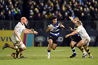 Anthony Watson of Bath Rugby goes on the attack. Aviva Premiership match, between Bath Rugby and Wasps on December 29, 2017 at the Recreation Ground in Bath, England. Photo by: Patrick Khachfe / Onside Images