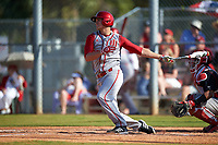 Indiana Hoosiers designated hitter Chris Lowe (26) during a game against the Illinois State Redbirds on March 4, 2016 at North Charlotte Regional Park in Port Charlotte, Florida.  Indiana defeated Illinois State 14-1.  (Mike Janes/Four Seam Images)