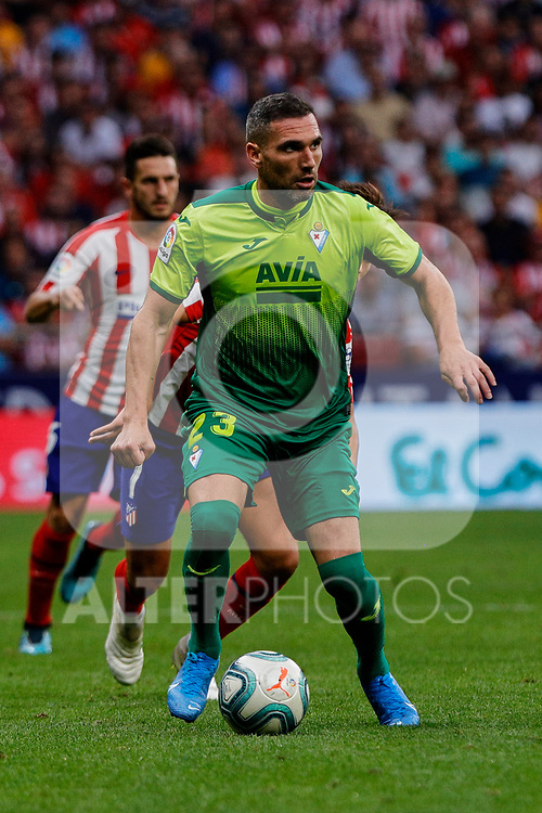 Anaitz Arbilla of SD Eibar in action during La Liga match between Atletico de Madrid and SD Eibar at Wanda Metropolitano Stadium in Madrid, Spain.September 01, 2019. (ALTERPHOTOS/A. Perez Meca)