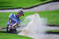 Bubba Watson (USA) hits from the trap on 1 during round 1 of the World Golf Championships, Mexico, Club De Golf Chapultepec, Mexico City, Mexico. 3/2/2017.<br /> Picture: Golffile | Ken Murray<br /> <br /> <br /> All photo usage must carry mandatory copyright credit (&copy; Golffile | Ken Murray)