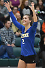 Viki Harkin #2 of Mattituck reacts after her team's 3-0 win over East Rockaway in the girls volleyball Class C Long Island Championship at Farmingdale State College on Sunday, Nov. 11, 2018.