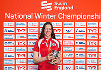 Picture by Allan McKenzie/SWpix.com - 14/12/2017 - Swimming -Swim England Winter Champs - Ponds Forge International Sports Centre - Sheffield, England - Lauren Quigley takes gold in the womens open 50m freestyle.