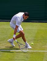 England, London, 23.06.2014. Tennis, Wimbledon, Victor Hanescu (ROU)<br /> Photo:Tennisimages/Henk Koster