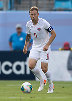 CHARLOTTE, NC - JUNE 23: Scott Arfield #8 during a game between Cuba and Canada at Bank of America Stadium on June 23, 2019 in Charlotte, North Carolina.