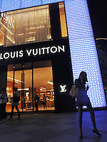 Louis Vuitton shop in Shanghai, China. China's retail sales, the main gauge of consumer spending in the world's fastest-growing economy, rose 18.5 percent year on year to 1.15 trillion yuan (168.52 billion US dollars) in April..