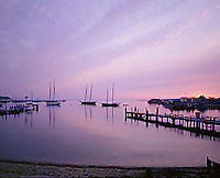 Vineyard Haven harbor sunrise, Martha's Vineyard, MA