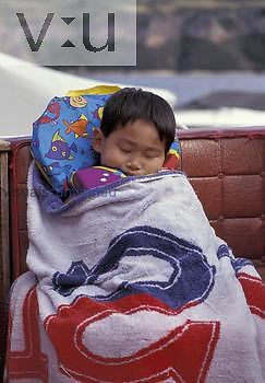 Korean boy ,age 3 years, sleeping.