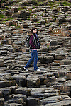 Allison at The Giant's Causeway in County Antrim, Northern Ireland on Saturday, June 22nd 2013. (Photo by Brian Garfinkel)