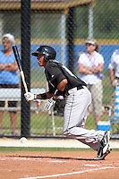 Toronto Blue Jays minor league second baseman Ryan Goins during a game vs the New York Yankees at the Englebert Minor League Complex in Dunedin, Florida;  March 21, 2011.  Photo By Mike Janes/Four Seam Images