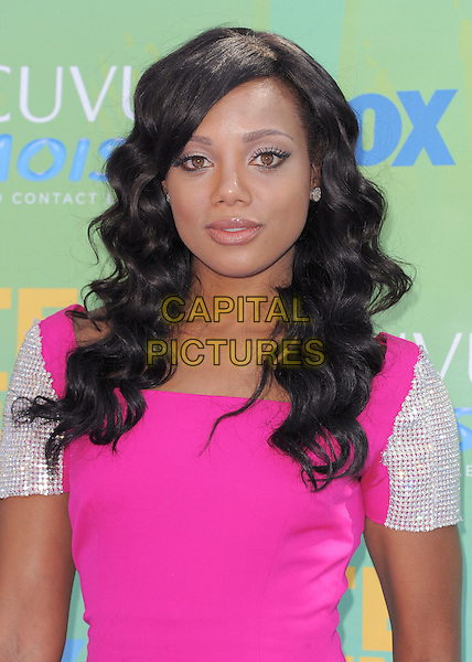 Tiffany Hines.2011 Teen Choice Awards - Arrivals held at Gibson Amphitheatre, Universal City, California, USA..August 7th, 2011.half length pink dress silver  sleeves.CAP/RKE/DVS.©DVS/RockinExposures/Capital Pictures.