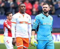 Blackpool's Mark Howard looks on before kick off<br /> <br /> Photographer David Shipman/CameraSport<br /> <br /> The EFL Sky Bet League One - Charlton Athletic v Blackpool - Saturday 16th February 2019 - The Valley - London<br /> <br /> World Copyright © 2019 CameraSport. All rights reserved. 43 Linden Ave. Countesthorpe. Leicester. England. LE8 5PG - Tel: +44 (0) 116 277 4147 - admin@camerasport.com - www.camerasport.com