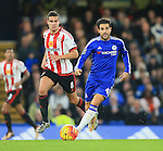 Chelsea's Cesc Fabregas tussles with Sunderland's Jack Rodwell<br /> <br /> Barclays Premier League- Chelsea vs Sunderland - Stamford Bridge - England - 19th December 2015 - Picture David Klein/Sportimage