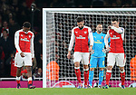 Arsenal's Alex Iwobi looks on dejected after scorinh an own goal during the Champions League group A match at the Emirates Stadium, London. Picture date November 23rd, 2016 Pic David Klein/Sportimage