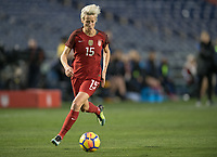 San Diego, Ca - Sunday, January 21, 2018: Megan Rapinoe during a USWNT 5-1 victory over Denmark at SDCCU Stadium.