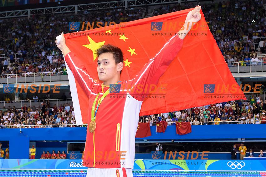 YANG Sun CHN Gold Medal Men's 200m Freestyle <br /> Rio de Janeiro 08-08-2016 Olympic Aquatics Stadium <br /> Swimming Nuoto <br /> Foto Andrea Staccioli/Deepbluemedia/Insidefoto