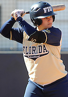 Florida International University infielder Brie Rojas (24) plays against the University of Illinois.  FIU won the game 8-0 on February 12, 2012 at Miami, Florida. .