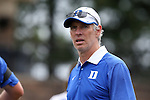 30 August 2015: Duke assistant coach Mike Miller. The Duke University Blue Devils hosted the DePaul University Blue Demons at Koskinen Stadium in Durham, NC in a 2015 NCAA Division I Men's Soccer match.