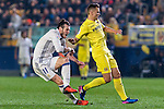 Gareth Bale (l) of Real Madrid battles for the ball with  Mario Gaspar Pérez Martínez of Villarreal CF during their La Liga match between Villarreal CF and Real Madrid at the Estadio de la Cerámica on 26 February 2017 in Villarreal, Spain. Photo by Maria Jose Segovia Carmona / Power Sport Images