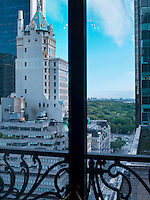 View of New York's Central Park from the window of the Bentley Suite