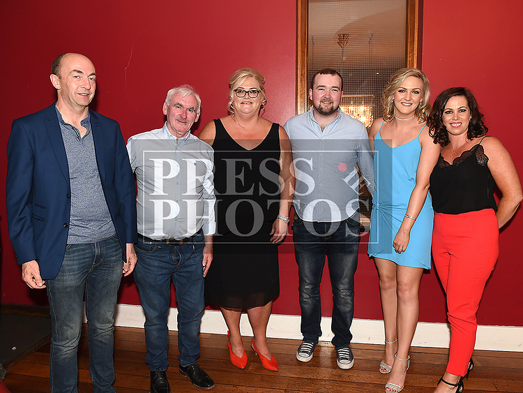 Maria KIng celebrating her 50th birthday in Brú with husband Tommy, brother inlaw Frank Cruise, nephew Ciaran Cruise, Niece Kelly Cruise and sister inlaw Aileen Cruise. Photo:Colin Bell/pressphotos.ie