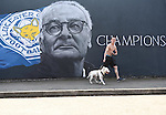 Leicester city fan and his bulldog visits the painted wall of Leicester city manger Claudio Ranieri, in Leicester, England. Photo credit should read: Nathan Stirk/Sportimage<br /> <br /> <br /> <br /> <br /> <br /> <br /> <br /> <br /> <br /> <br /> <br /> <br /> <br /> <br /> <br /> <br /> <br /> <br /> <br /> <br /> <br /> <br /> <br /> <br /> <br /> <br /> <br /> <br /> <br /> <br /> - Newcastle Utd vs Tottenham - St James' Park Stadium - Newcastle Upon Tyne - England - 19th April 2015 - Picture Phil Oldham/Sportimage