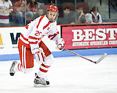 Colby Cohen (BU - 25) - The Boston University Terriers defeated the University of Maine Black Bears 1-0 (OT) on Saturday, February 16, 2008 at Agganis Arena in Boston, Massachusetts.