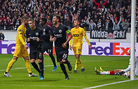 celebrate the goal, Torjubel zum 2:0 David Abraham (Eintracht Frankfurt) und Mijat Gacinovic (Eintracht Frankfurt) - 24.10.2019:  Eintracht Frankfurt vs. Standard Lüttich, UEFA Europa League, Gruppenphase, Commerzbank Arena<br /> DISCLAIMER: DFL regulations prohibit any use of photographs as image sequences and/or quasi-video.
