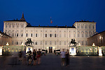 Royal Palace in Turin - Torino, Italy illuminated at night