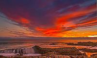Red Sky Sunset Corona Del Mar California