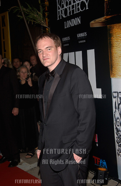 QUENTIN TARANTINO at the gala screening & party at the Cannes Film Festival for Kill Bill Volume II, which was screening out of competition..May 16, 2004