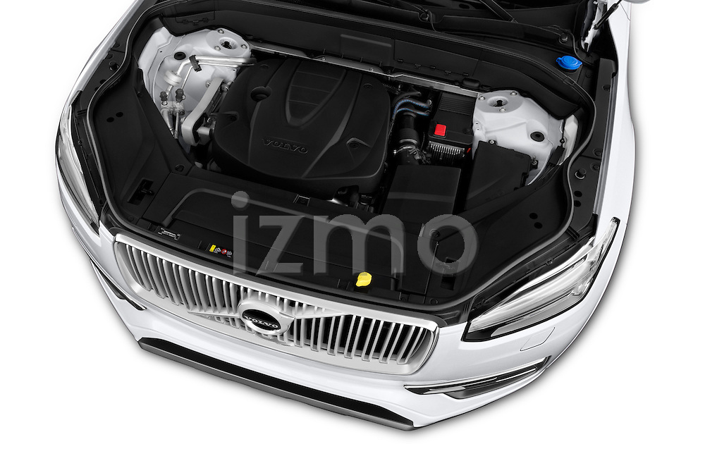 Car Stock 2015 Volvo XC90 Inscription7 5 Door SUV Engine  high angle detail view