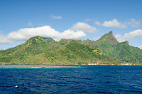 Harbor entrance at Vai'are, Moorea,   French Polynesia, Pacific Ocean