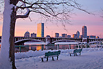 Sunrise on the Charles River in Boston, MA, USA